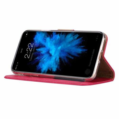 Bookcase Apple iPhone X hoesje - Roze