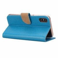 Bookcase Apple iPhone X hoesje - Blauw