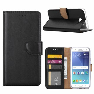 Bookcase Samsung Galaxy J7 2016 hoesje - Zwart