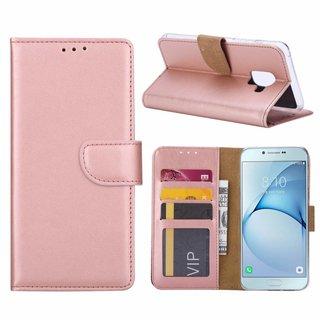 Bookcase Samsung Galaxy A8 2018 hoesje - Rosé Goud