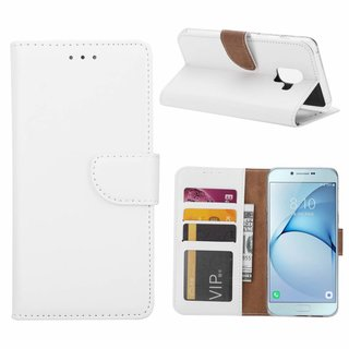 Bookcase Samsung Galaxy A8 2018 hoesje - Wit