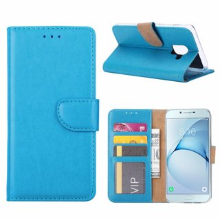 Bookcase Samsung Galaxy A8 2018 hoesje - Blauw