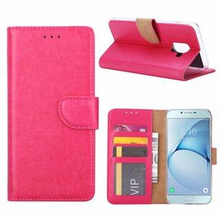 Bookcase Samsung Galaxy A8 2018 hoesje - Roze