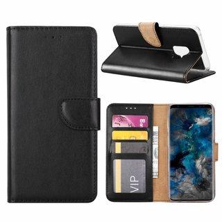 Luxe Lederen Bookcase hoesje voor de Samsung Galaxy S9 - Zwart
