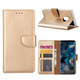 Luxe Lederen Bookcase hoesje voor de Samsung Galaxy S9 - Goud