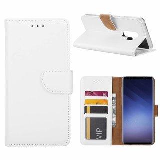 Luxe Lederen Bookcase hoesje voor de Samsung Galaxy S9 Plus - Wit