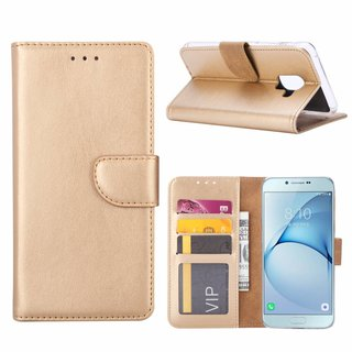 Bookcase Samsung Galaxy A8 2018 hoesje  - Goud
