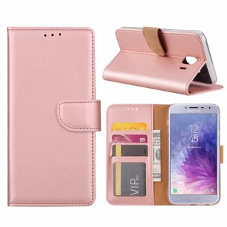 Bookcase Samsung Galaxy J4 2018 hoesje - Rosé Goud