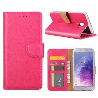 Bookcase Samsung Galaxy J4 2018 hoesje - Roze