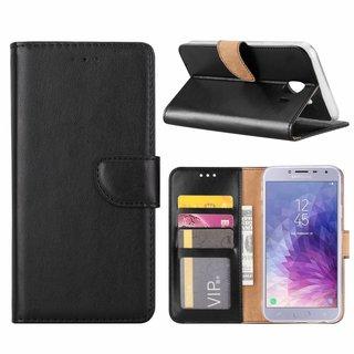 Bookcase Samsung Galaxy J4 2018 hoesje - Zwart