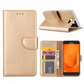 Bookcase Samsung Galaxy J7 Prime 2 hoesje - Goud