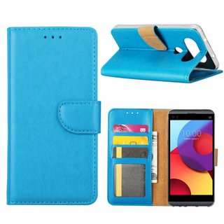 Bookcase LG Q8 hoesje - Blauw
