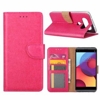 Bookcase LG Q8 hoesje - Roze