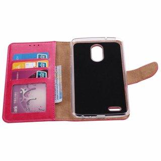 Bookcase LG Stylus 3 hoesje - Roze