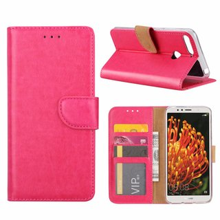 Bookcase Huawei Y6 2018 hoesje - Roze