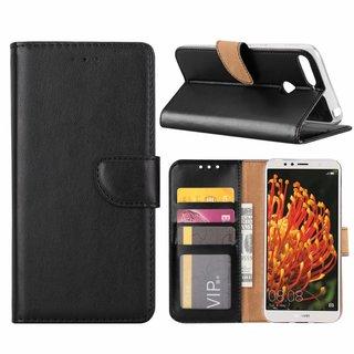 Bookcase Huawei Y6 2018 hoesje - Zwart