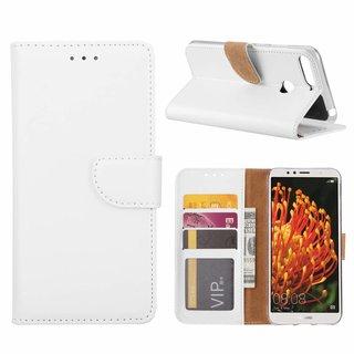 Bookcase Huawei Y6 2018 hoesje - Wit