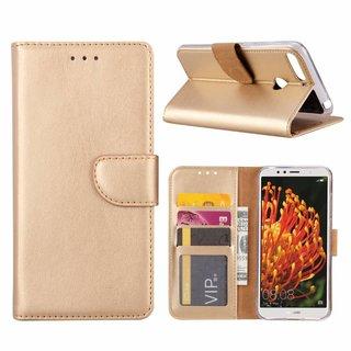 Bookcase Huawei Y6 2018 hoesje - Goud
