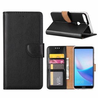 Bookcase Huawei Y7 Prime 2018 hoesje - Zwart