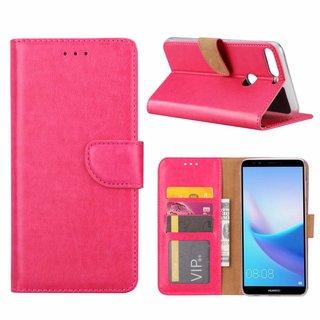 Bookcase Huawei Y7 Prime 2018 hoesje - Roze