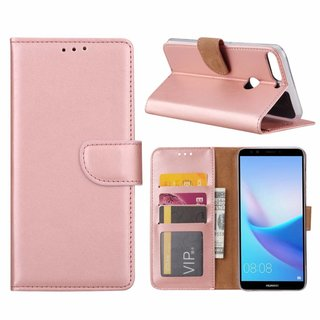 Bookcase Huawei Y7 Prime 2018 hoesje - Rosé Goud