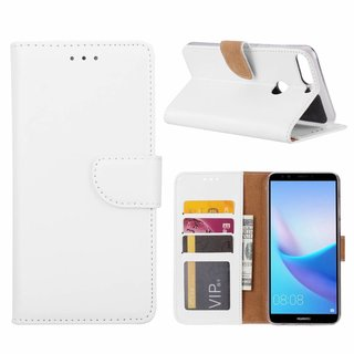 Bookcase Huawei Y7 Prime 2018 hoesje - Wit