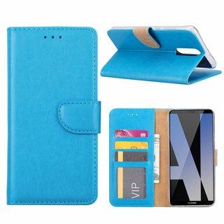 Luxe Lederen Bookcase hoesje voor de Huawei Mate 10 Lite - Blauw