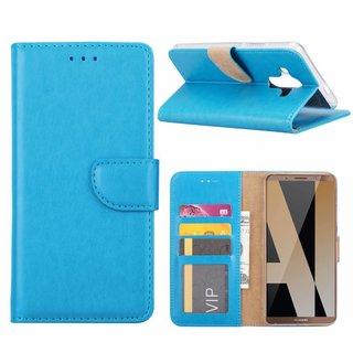 Luxe Lederen Bookcase hoesje voor de Huawei Mate 10 Pro - Blauw