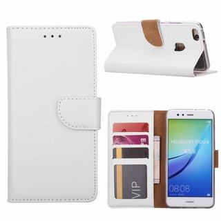 Bookcase Huawei Nova hoesje - Wit