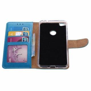 Luxe Lederen Bookcase hoesje voor de Huawei Nova Lite - Blauw