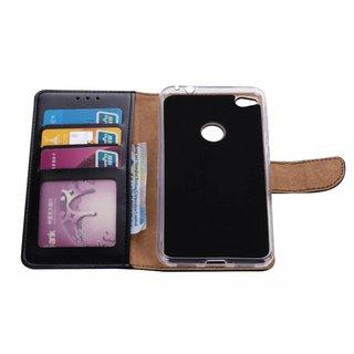 Luxe Lederen Bookcase hoesje voor de Huawei Nova Lite - Zwart