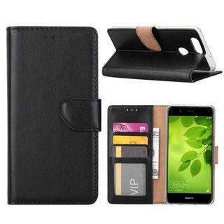 Bookcase Huawei Nova 2 Plus hoesje - Zwart