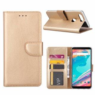 Bookcase OnePlus 5T hoesje - Goud