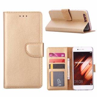 Bookcase Huawei P10 hoesje - Goud
