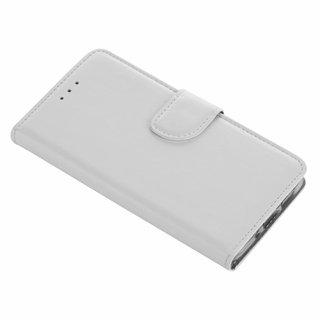 Luxe Lederen Bookcase hoesje voor de Huawei P10 Lite - Wit
