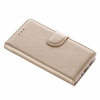 Bookcase Huawei P10 Lite hoesje - Goud