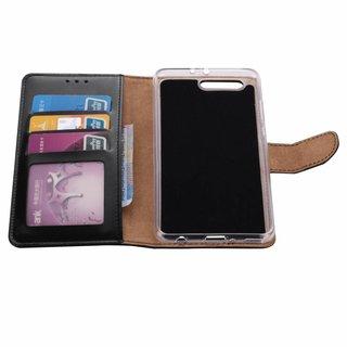 Luxe Lederen Bookcase hoesje voor de Huawei P10 Plus - Zwart