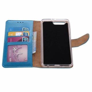 Luxe Lederen Bookcase hoesje voor de Huawei P10 Plus - Blauw