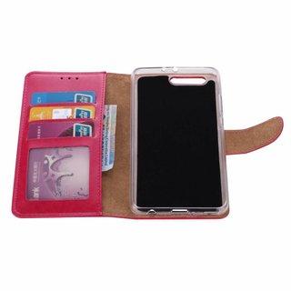 Luxe Lederen Bookcase hoesje voor de Huawei P10 Plus - Roze