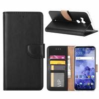 Bookcase HTC U11 Plus hoesje - Zwart