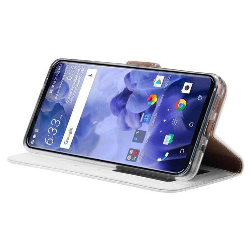 Bookcase HTC U11 Plus hoesje - Wit