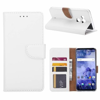 Bookcase HTC U11 Plus hoesje - Wit
