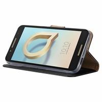 Bookcase Alcatel A7 hoesje - Zwart