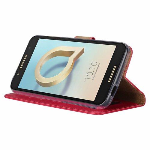Bookcase Alcatel A7 hoesje - Roze