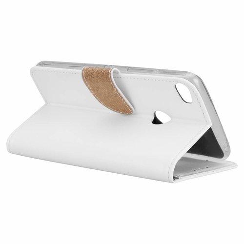Bookcase Alcatel Idol 5 hoesje - Wit