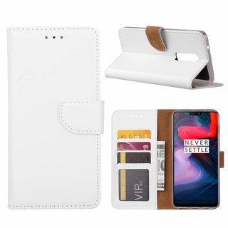 Bookcase OnePlus 6 hoesje - Wit