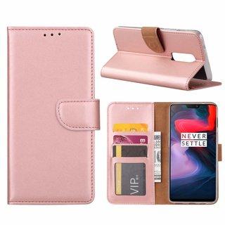 Bookcase OnePlus 6 hoesje - Rosé Goud