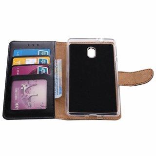 Luxe Lederen Bookcase hoesje voor de Nokia 3 - Zwart