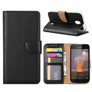 Bookcase Nokia 1 hoesje - Zwart