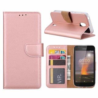 Bookcase Nokia 1 hoesje - Rosé Goud